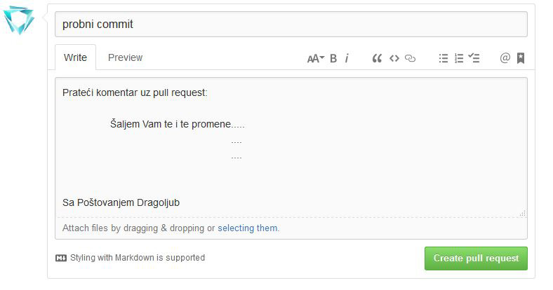 sending pull request